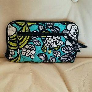 Vera Bradley zip wallet with wrist strap